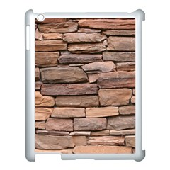 STONE WALL BROWN Apple iPad 3/4 Case (White)