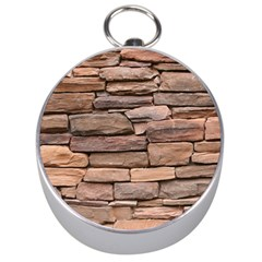 STONE WALL BROWN Silver Compasses