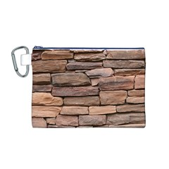 STONE WALL BROWN Canvas Cosmetic Bag (M)
