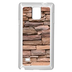 STONE WALL BROWN Samsung Galaxy Note 4 Case (White)