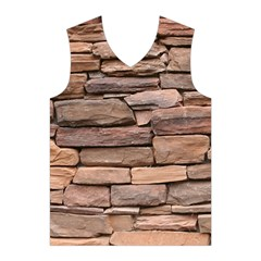 STONE WALL BROWN Men s Basketball Tank Top