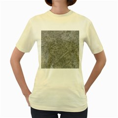 SILVER TRAVERTINE Women s Yellow T-Shirt