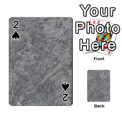 Silver Travertine Playing Cards 54 Designs