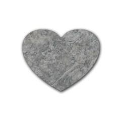 Silver Travertine Rubber Coaster (heart)