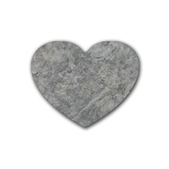SILVER TRAVERTINE Heart Coaster (4 pack)
