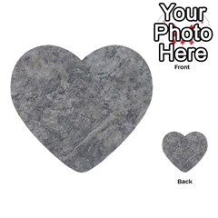 Silver Travertine Multi Purpose Cards (heart)
