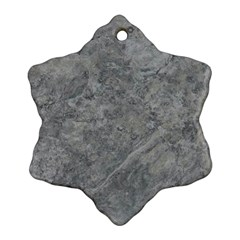 SILVER TRAVERTINE Ornament (Snowflake)