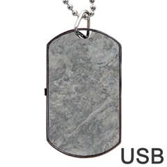 SILVER TRAVERTINE Dog Tag USB Flash (One Side)