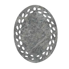 Silver Travertine Ornament (oval Filigree)