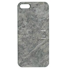 SILVER TRAVERTINE Apple iPhone 5 Hardshell Case with Stand