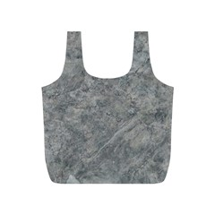 SILVER TRAVERTINE Full Print Recycle Bags (S)