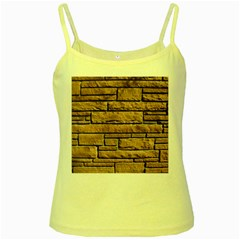 SANDSTONE BRICK Yellow Spaghetti Tanks