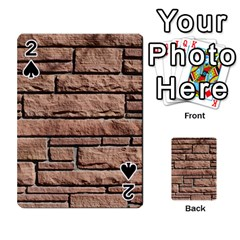 Sandstone Brick Playing Cards 54 Designs