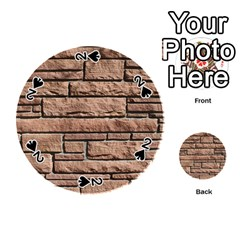 Sandstone Brick Playing Cards 54 (round)