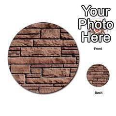 Sandstone Brick Multi Purpose Cards (round)