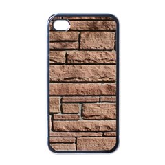 SANDSTONE BRICK Apple iPhone 4 Case (Black)