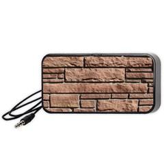 SANDSTONE BRICK Portable Speaker (Black)