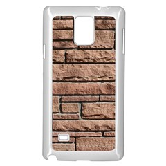 SANDSTONE BRICK Samsung Galaxy Note 4 Case (White)