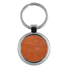 RUST COLORED STUCCO Key Chains (Round)