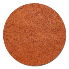 RUST COLORED STUCCO Magnet 5  (Round)
