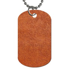 Rust Colored Stucco Dog Tag (one Side)