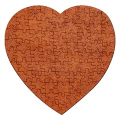 RUST COLORED STUCCO Jigsaw Puzzle (Heart)