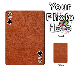 Rust Colored Stucco Playing Cards 54 Designs