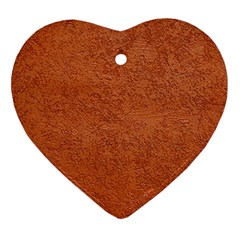 RUST COLORED STUCCO Heart Ornament (2 Sides)