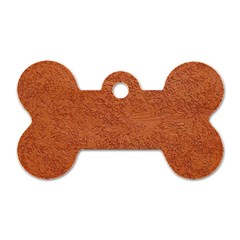 RUST COLORED STUCCO Dog Tag Bone (Two Sides)