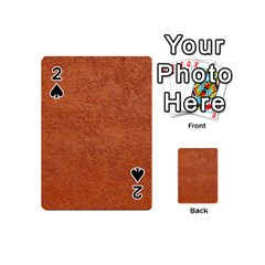 RUST COLORED STUCCO Playing Cards 54 (Mini)