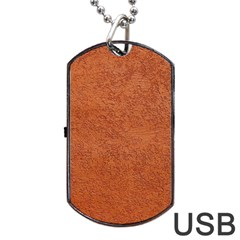 Rust Colored Stucco Dog Tag Usb Flash (two Sides)