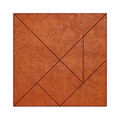 RUST COLORED STUCCO Acrylic Tangram Puzzle (6  x 6 )