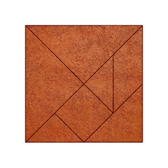 Rust Colored Stucco Acrylic Tangram Puzzle (4  X 4 )