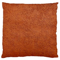 RUST COLORED STUCCO Large Cushion Cases (One Side)