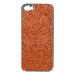 RUST COLORED STUCCO Apple iPhone 5 Case (Silver)