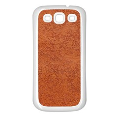 RUST COLORED STUCCO Samsung Galaxy S3 Back Case (White)