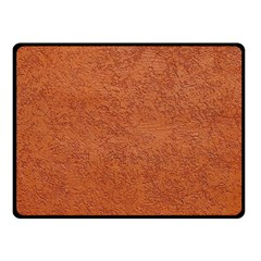 RUST COLORED STUCCO Double Sided Fleece Blanket (Small)