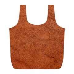 RUST COLORED STUCCO Full Print Recycle Bags (L)