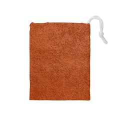 RUST COLORED STUCCO Drawstring Pouches (Medium)