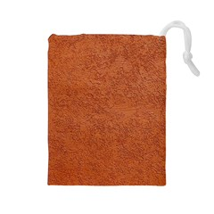 RUST COLORED STUCCO Drawstring Pouches (Large)