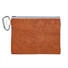 RUST COLORED STUCCO Canvas Cosmetic Bag (L)