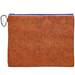 RUST COLORED STUCCO Canvas Cosmetic Bag (XXXL)