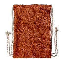 RUST COLORED STUCCO Drawstring Bag (Large)