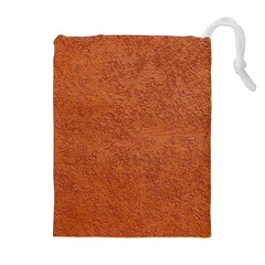 RUST COLORED STUCCO Drawstring Pouches (Extra Large)