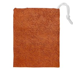 RUST COLORED STUCCO Drawstring Pouches (XXL)