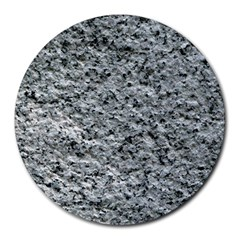 ROUGH GREY STONE Round Mousepads