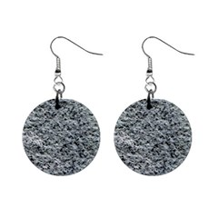 ROUGH GREY STONE Mini Button Earrings