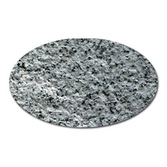 ROUGH GREY STONE Oval Magnet