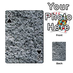 Rough Grey Stone Playing Cards 54 Designs