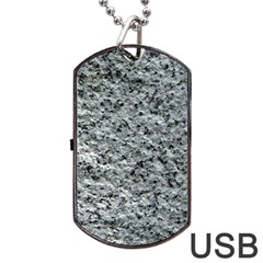 Rough Grey Stone Dog Tag Usb Flash (two Sides)